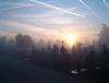 kerkhof Bissegem zonsopgang